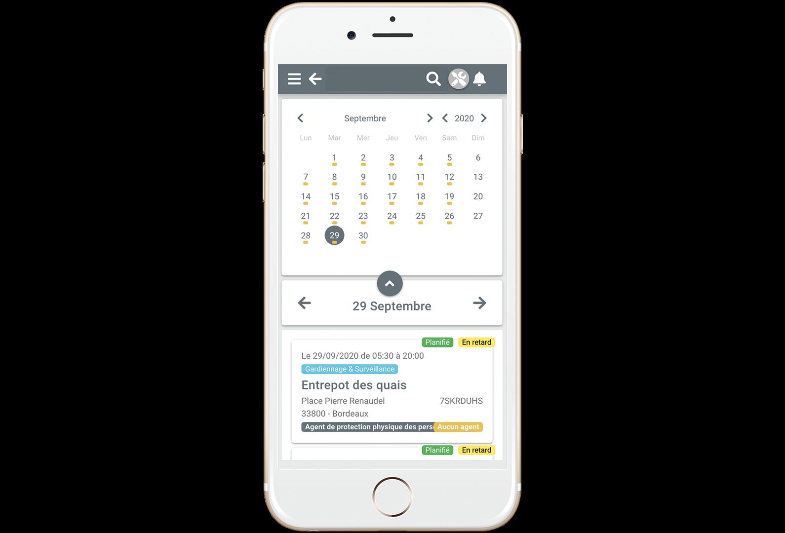Accès client sur mobile, tablette et ordinateur