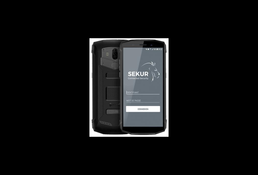 logiciel sekur - téléphone professionnel agent de sécurité
